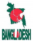 picture of bangladesh  - Bangladesh map flag and text illustration - JPG