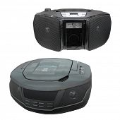 picture of dick  - Portable radio cassette recorder with CD - JPG