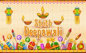 image of diya  - illustration of Shubh Deepawali  - JPG