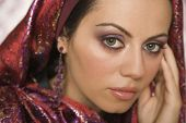 picture of middle eastern culture  - Middle Eastern woman wearing head scarf - JPG