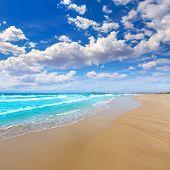 pic of manga  - La Manga del Mar Menor beach in Murcia Spain Playa Barco Perdido at Mediterranean - JPG