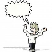 pic of mad scientist  - mad scientist cartoon - JPG