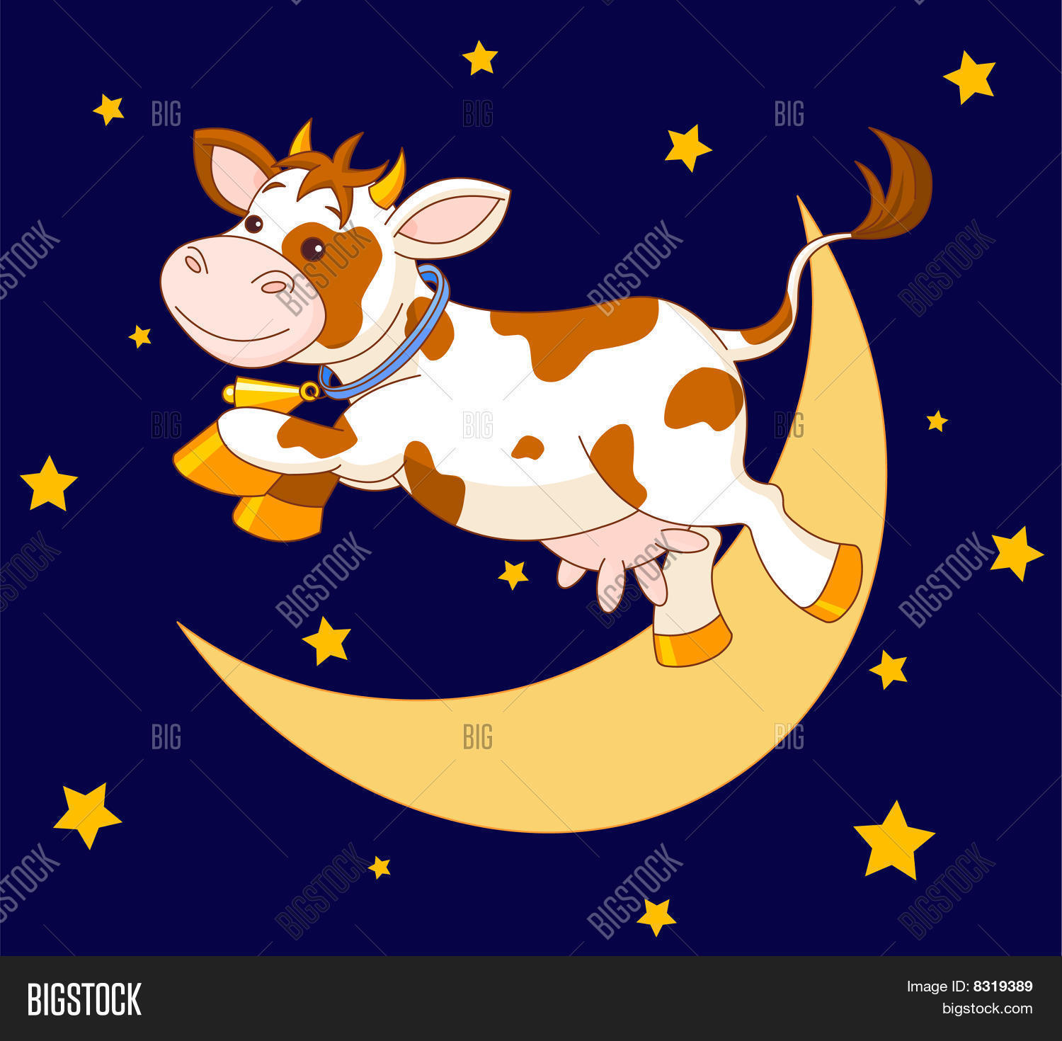 Pics For > Cow Jumped Over The Moon Clipart