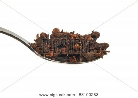 Dried Cloves On A Teaspoon