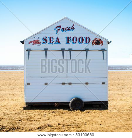 Sea Food Stall on Weston Super-Mare-Beach