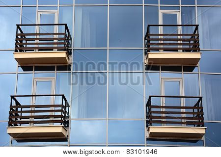 Glass And Balcony Background