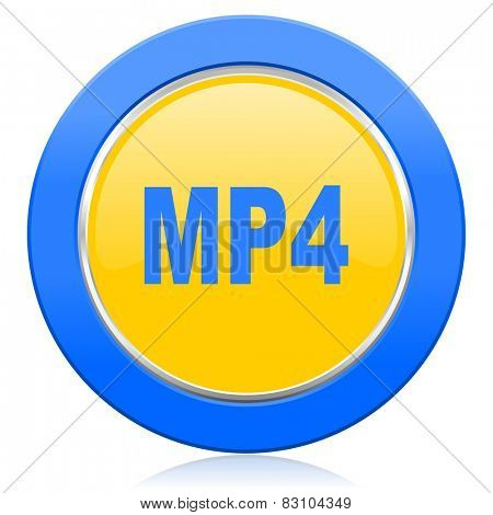 mp4 blue yellow icon