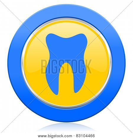 tooth blue yellow icon