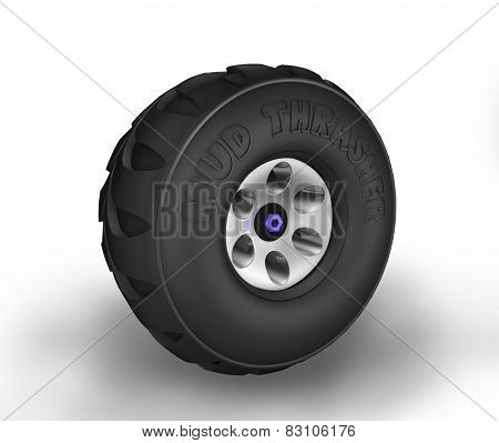 Off-road Cartoon Tyre.