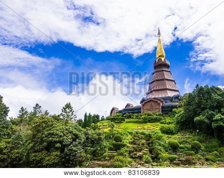 Pagoda and royal garden, Thailand