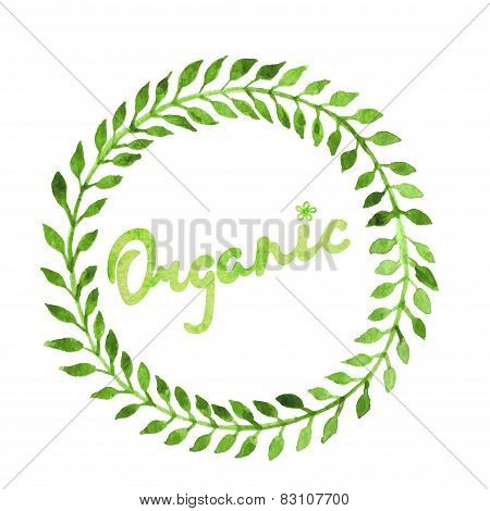 Set Of Badges, Labels, Logo, Floral Elements, Wreaths And Laurels