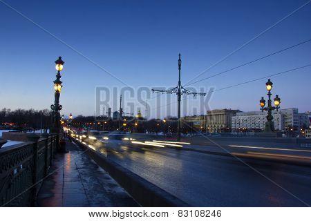 Trinity bridge, St. Petersburg, Russia