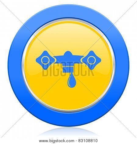 water blue yellow icon hydraulics sign