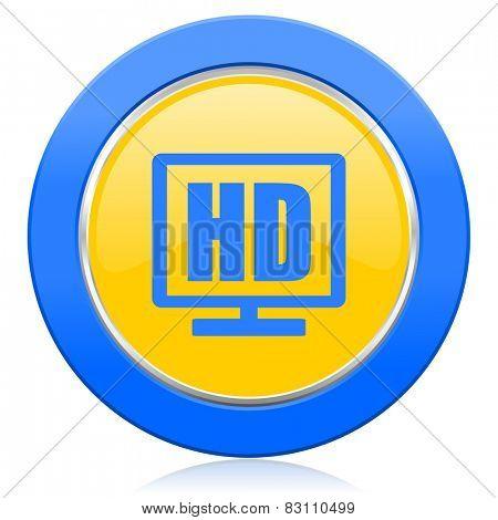 hd display blue yellow icon