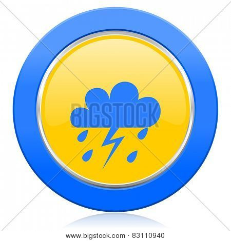 storm blue yellow icon waether forecast sign