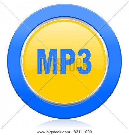 mp3 blue yellow icon