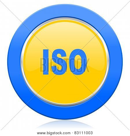 iso blue yellow icon