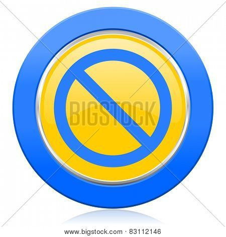 access denied blue yellow icon