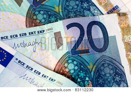 Banknotes Of Twenty Euro