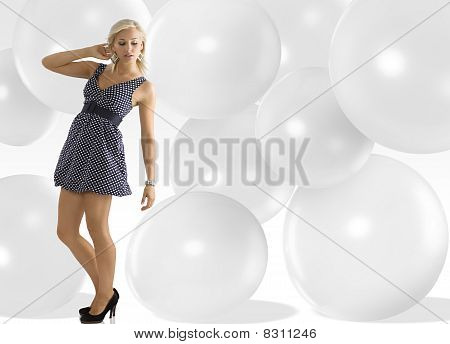 Girl With With Polka Dots