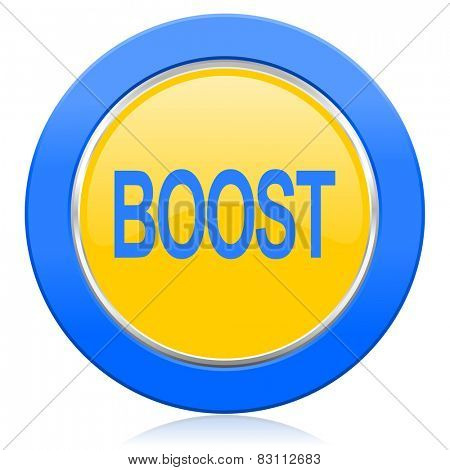 boost blue yellow icon