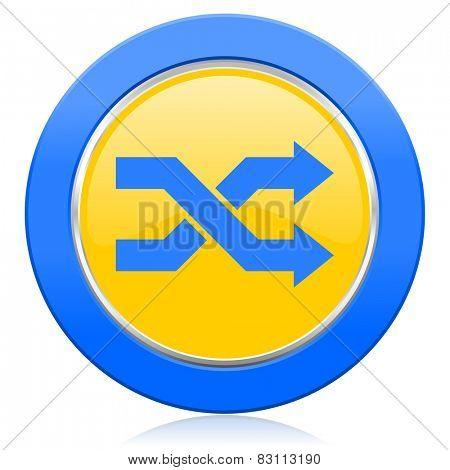 aleatory blue yellow icon