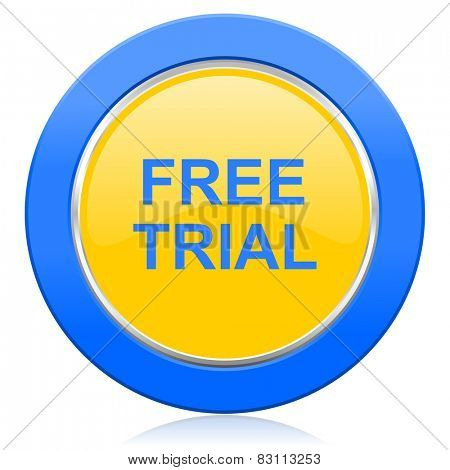 free trial blue yellow icon
