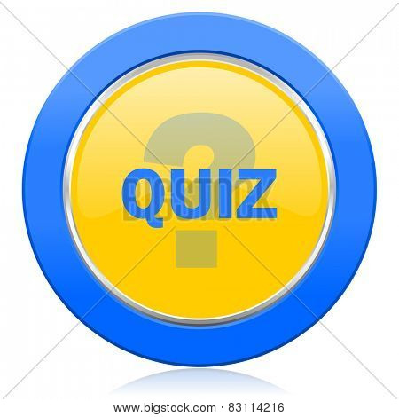 quiz blue yellow icon