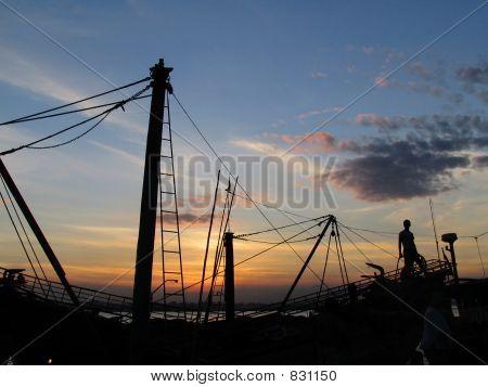 boat & sunset