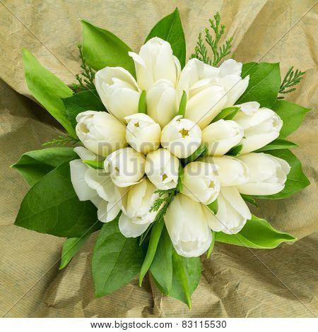 White Tulips Arrangement.