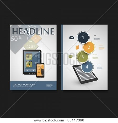 Flyer or Cover Design Template - Business, Networks, Genetic Science - Corporate Identity Concept
