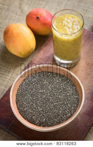 Chia Seeds with Mango Chia Juice