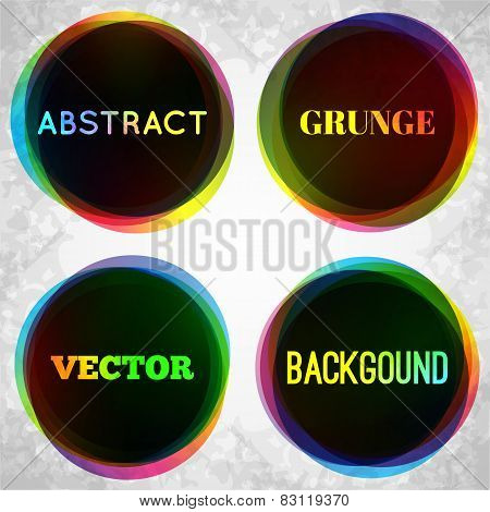Abstract grunge frame background. Vector illustration