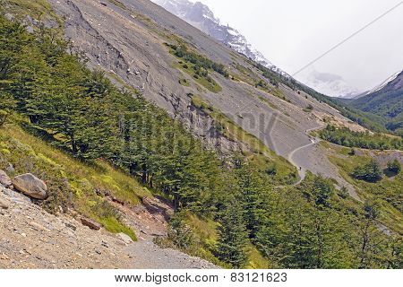 Trail Into A Mountain Valley