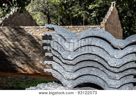 Stacked Roof Tiles