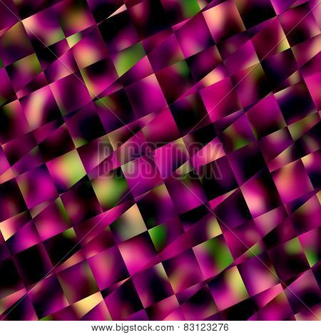 Abstract purple squares. Mosaic background. Geometric pattern or background. Diagonal lines.
