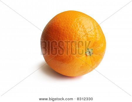 An Orange On A White Background - With Clipping Path