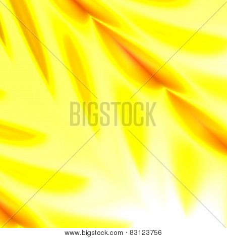 Abstract yellow nature background. For banner, flyer, poster or cover design. Illuminated, bright.