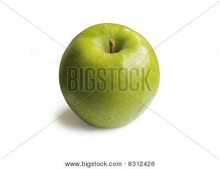 Green Apple On A White Background - With Clipping Path