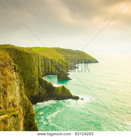 Irish Landscape. Coastline Atlantic Ocean Coast Scenery.