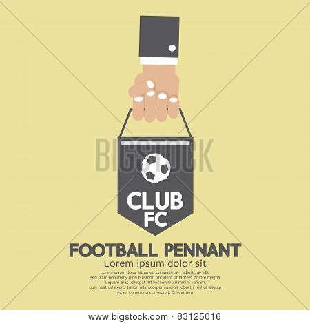 Football Or Soccer Pennant Banner.