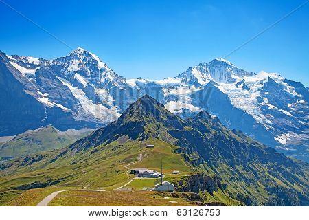 Top of Mannlichen (Jungfrau region, Bern, Switzerland)