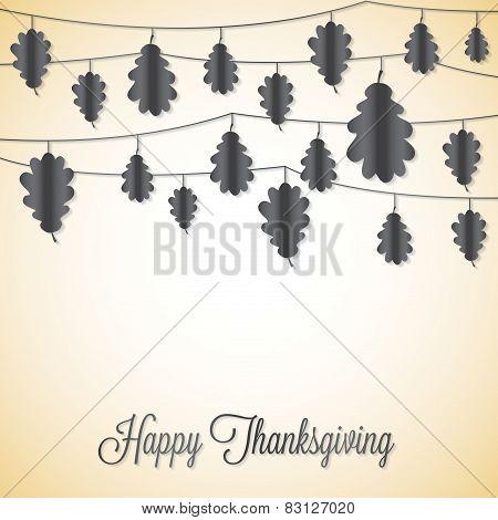Elegant String Thanksgiving Card In Vector Format.