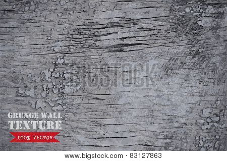 Wooden texture background. Vector illustration of grey wood plank wall.