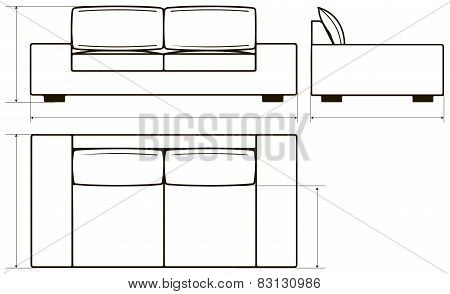 Drawing Of Modern Sofas