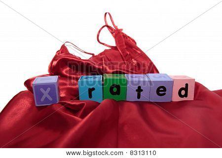 Hechizo de bloques X clasificado en camisón de seda