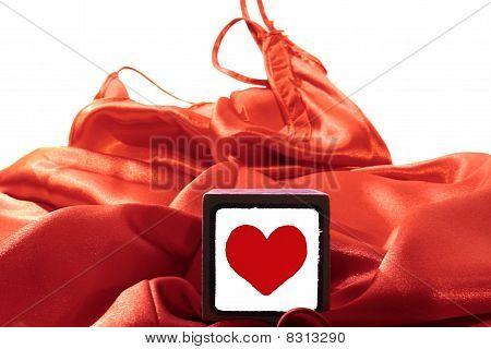 Toy Love Heart On Silk Nightie