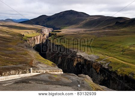 Karahnjúkar Dam - Canyon Of The River On Iceland