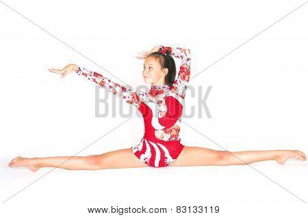 Beautiful Asian Girl Gymnast
