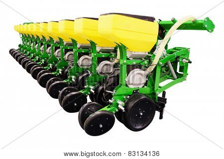 Precision seeder isolated under the white background